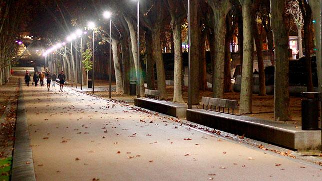 Proyecto Iluminacion Led zona Verde Urbana- Madrid Rio (Madrid)